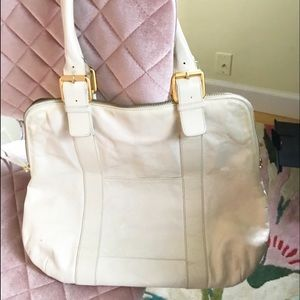 🍀🍀Latico Bag - White Leather - Pasley Interior